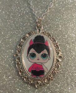 Silver Charm Necklace Pendant LOL L.O.L Doll Spice