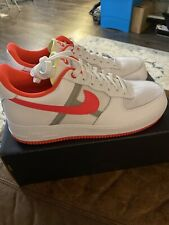 Nike Air Force 1 '07 LV8 1 White Bright Crimson Fashion CI0060 102 Size 12