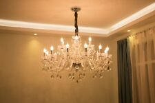 Clear Crystal Chandelier Lighting Fixture Pendant Ceiling 10/15/18head Clearance