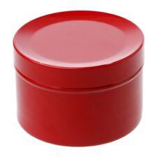 Mini Tin Tea Storage Box Round Metal Case Wedding Favor Organizer Container 50ml