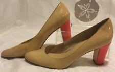 Kate Spade,Tan/Orange Patent Leather Pumps, Orange Heels,Size 9.5 VINTAGE ! SALE