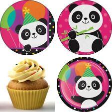 Eßbar Tier Panda Birthday Tortenaufleger Deko Geburtstag Muffinaufleger Party