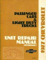 CHEVROLET 1977 SHOP MANUAL OVERHAUL SERVICE REPAIR BOOK