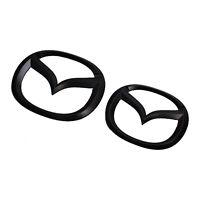 Mazda Schwarz Vorne Kofferraum Abzeichen Emblem OEM Vorders Logo Symbol Zeichen