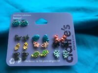 10 Pairs Of Claire's Cute Animal Earrings Koala Turtle Cat Owls And More
