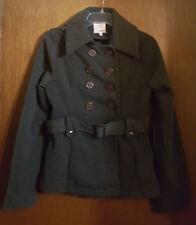 NEW Bongo Charcoal Gray Pea Coat Size Medium M Button Front Jacket