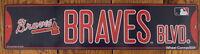 Street Sign Atlanta Braves Blvd.  MLB Lic Baseball full colorful picture