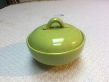 Homer Laughlin Dura-Print Charm House Chartreuse Sugar Bowl Excellent!