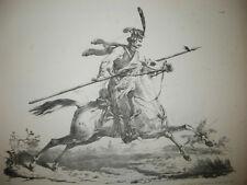 Carle VERNET - CHEVAL de COSAQUE régulier - Lithographie du XIXème - HORSE