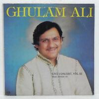 Ghulam Ali Ghazals LP Vinyl Record Live Concert 1984 Rare Bollywood Indian NM