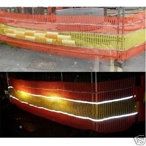 Reflective Orange & Yellow Safety Barrier Fence Fencing Net Mesh 0.9m x 14m Roll