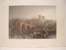 France. «Avignon». Gravure Joseph Skelton (engraving, grabado)