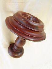 ancienne toupie /boule d'escalier /déco -lit- armoire-buffet- en bois tourné