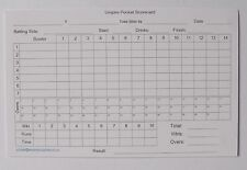 Cricket Umpire Match Cards - 50 overs