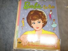 1963 cut out barbie  paper dolls and dresses