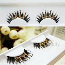 1 Pair Women Crown Shape Fake Eye Lashes Party False Eyelash Kit Makeup