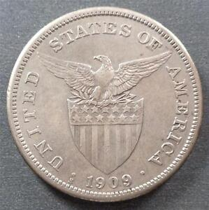 Philippines - U.S. Administration, Silver 1 Peso, 1909S, toned