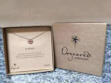 Dogeared  Karma Necklace Gold Dipped Sterling