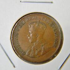 CANADA George V 1929 bronze Cent small cent; attractive XF+ brown