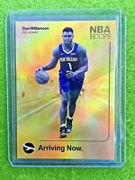 ZION WILLIAMSON ROOKIE CARD PELICANS SSP RC 2019-20 Hoops ARRIVING NOW HOLO GOLD