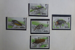 FIJI 1987 INSECTS SET 5 MINT STAMPS