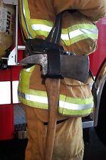 LINE2design Fire Axe Holder – Firefighter Heavy Duty Leather Axe Cradle - Black