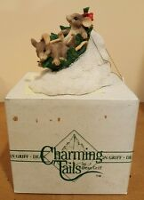 Charming Tails Dean Griff Flying Leaf Saucer Figurine