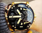 DIESEL MR.DADDY 2.0 DZ7333 Black Dial Gold-tone Stainless Steel Men's Watch