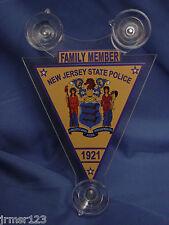 NJSP  NEW JERSEY STATE POLICE   POLICE FAMILY MEMBER CAR SHIELD  PBA FOP -1921