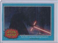 2015 Star Wars Chrome The Force Awakens #67 Kylo Ren Ignites His Lightsaber