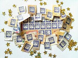 Vintage Postage Stamps Blue 35+ The Deutsche Bundes Post Annette von...