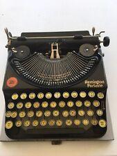1920's REMINGTON PORTABLE TYPEWRITER WITH CASE. RARE . VINTAGE