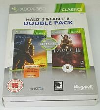 XBOX 360 CLASSICS Halo 3 et Fable 2 Double Pack 2009 Rare Set Brand New
