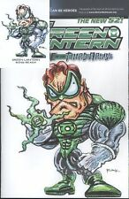 Green Lantern #13 W/Original Art by RAK & Hand Signed ACEO Card