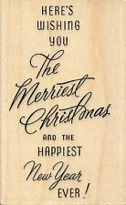 "Merriest Wish M276  Stampendous Rubber Stamp  Christmas  2.25"" x 3.5""  w/m  NEW"