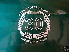 John Cooper Garages 30 Anniversary graphics FREE P+P UK UK supplier