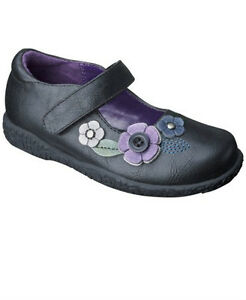 Toddler Girls Size 7 or 8 Black Mary Janes Flats by Cherokee Brand New
