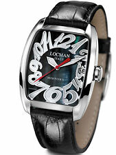 LOCMAN *HISTORY* Titanium WATCH, Model 486N, BLACK MOTHER-OF-PEARL,  BOXED, NEW