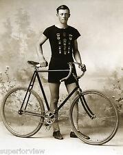 Vintage Bicycle Racer Bike Racing Clothing 1890 Ishpeming MI Racing Medals GREAT