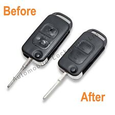 Mercedes 2 botón Flip Llavero restauración Servicio Para dañado defectuoso de teclas