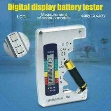 Universal 1.5V Digital LCD Battery Tester Checker C D N 9V AAA Button Cell