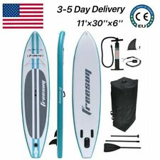 11 Foot Inflatable Sup Stand Up Paddle Board w/Paddle,11'×30�× 6�,White&Blue