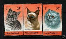 Cats New Zealand Stamps