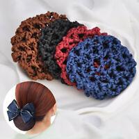 2Pcs Women Lady Hair Bun Net Snood Crochet Bun Net Hair Cover Headwear Acces