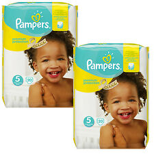 2x 20 = 40 PIÈCES Pampers Premium Protection Couche-culotte Taille 5 Junior