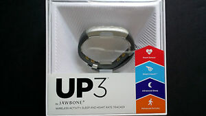 Jawbone UP3 Activity + Sleep & Heart Rate Tracker Wristband Fitness Band Silver