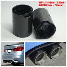 2PC Carbon Fiber Exhaut tip for BMW M2 M3 M4 M135i M235i M140i Mufflers Glossy