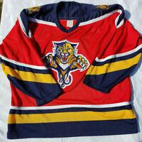 Vintage Florida Panthers CCM NHL Hockey Jersey Men's Size XL Extra Large
