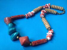 Collier de la Mer Corail, Galets, Coquillages / Necklace