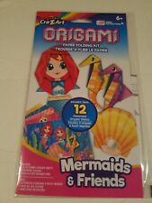 Origami Paper Folding Craft Kit with colorful playmat 12 sheets Mermaid  Friends